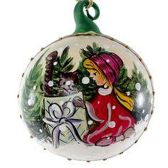 """""""Christmas Presents"""" Hand Painted Christmas Ball No.2"""