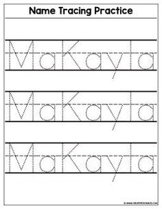 name writing practice name trace paper editable pre k popping pinterest name writing. Black Bedroom Furniture Sets. Home Design Ideas