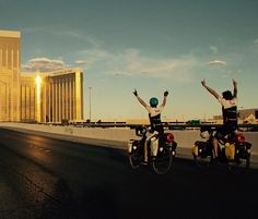 Instagram picutre by @pedelecadventures: Viva #lasvegas! After 2000km we accomplished the first leg of the #SandToSnow tour. #haibike #haibikeusa #yamaha #lasvegasstrip #ebike #pedelec #electricbike #ebiketouring #cyclingculture #adventure #nevada #mandalaybay - Shop E-Bikes at ElectricBikeCity.com (Use coupon PINTEREST for 10% off!)