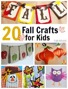 We have rounded up 20 of our favorite Fall crafts for kids that are sure to inspire you to create something special this season!