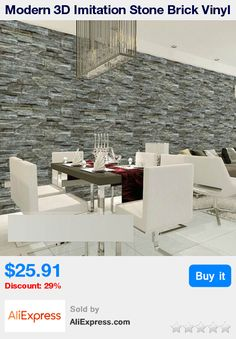 Superior Modern 3D Imitation Stone Brick Vinyl Waterproof Wallpaper Mural Wall  Covering Decor PVC Background Wallpaper Papel