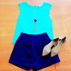 We love this combination of blues #shopfedora