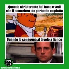 Aspettative e delusione al #ristorante  #bastardidentro #fame #insta