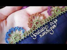 Crochet Borders, Filet Crochet, Embroidery, Bracelets, Floral, Jewelry, Youtube, Line Art, Tricot