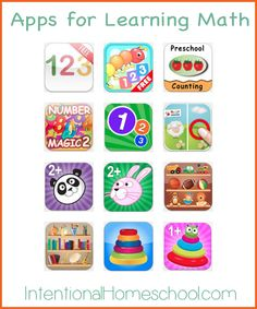 early learning iPad apps for learning math for toddlers and preschoolers