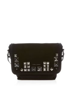 MARC JACOBS Small Canvas Chipped Studs Messenger. #marcjacobs #bags #shoulder bags #canvas #cotton #