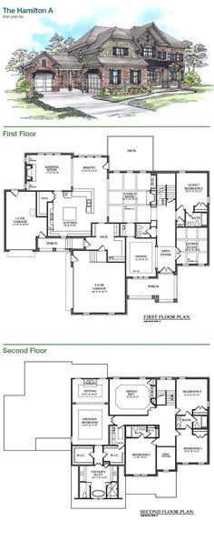Bercher Homes | The Hamilton A Plan