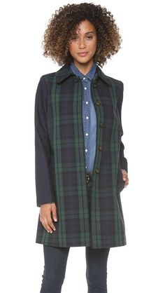 Plaid for FALL! Madewell Clean Plaid Mac Coat