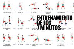 Esta rutina de ejercicios para realizar en casa permite cubrir todos los aspectos fundamentales de los ejercicios de alta intensidad. ¿Tienes 7 minutos? ¡A por el cuerpo perfecto!