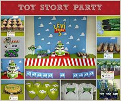 Buzz lightyear 5th party | CatchMyParty.com - so cute - love the balloons!