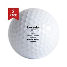 Alexander Name Design Golf Ball
