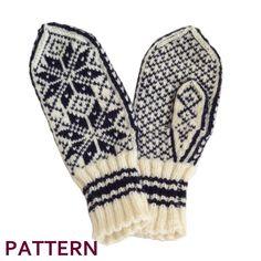 Mittens in Norwegian Selbu pattern hand knit from merino wool! Knitted Mittens Pattern, Knit Mittens, Knitting Patterns, Double Knitting, Hand Knitting, Knitting Machine, Wool Yarn, Yarn Crafts, Free Pattern