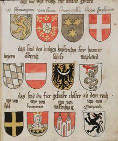Wappenbuch des St. Galler Abtes Ulrich Rösch Heidelberg · 15. Jahrhundert Cod. Sang. 1084  Folio 30