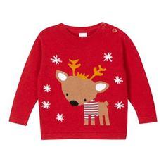 bluezoo Babies red reindeer Christmas jumper- at Debenhams.com