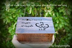 musical jewelry box   Welcome to Simplycoolgifts!   This musical jewelry box is made of beech wood and it's made to order!    As you can see on the 2nd pic, half of the wooden box is for some small je