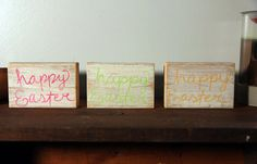 Happy Easter Blocks by SimpleRemnant on Etsy