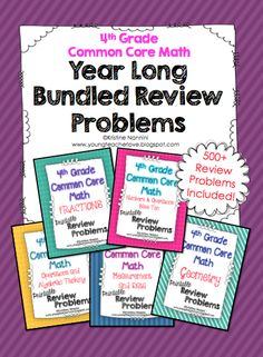 500+ math review problems for the entire year!! Spiral review to review ALL of the standards, homework, morning work, and more is all done for you! $