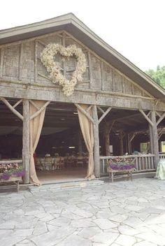 Barn Wedding with Baby's Breath Heart Wreath!!   www.MadamPaloozaEmporium.com www.facebook.com/MadamPalooza