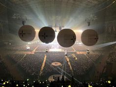 """how beautiful is it :"""") isn't it ? Concert Stage, Bts Concert, Bts Wings Tour, How Beautiful, Army, Ceiling Lights, Kpop, Concerts, Indie"""