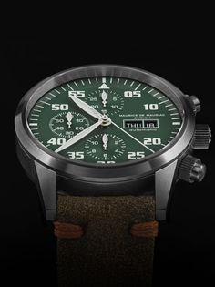 The latest Chrono Modern Defender Keswick Green by Swiss watchmaker Maurice de Mauriac. Luxury handmade watches for men and women.
