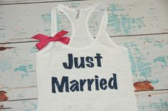 """I want this for the """"honeymoon"""" -aka, Delfest!  Just Married Shirt. Honeymoon Shirt. Bride by strongconfidentYOU, $22.00"""