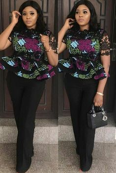 Collection of the most beautiful and stylish ankara peplum tops of 2018 every lady must have. See these latest stylish ankara peplum tops that'll make you stun African Fashion Ankara, Latest African Fashion Dresses, African Print Fashion, Africa Fashion, Ghanaian Fashion, Ankara Peplum Tops, Ankara Skirt And Blouse, Ankara Dress, Ankara Tops Blouses