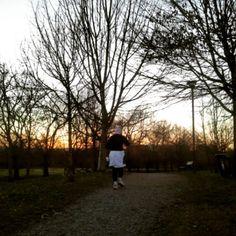 Tramonto al parco Colonnetti #inTO #Torino #Turin #italia #italy #parco #verde #tramonto #running