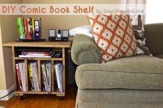 DIY Comic Book Shelf by DownShannonLane http://downshannonlane.com