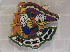 New Disney Donald Duck Mexico WDW Epcot World Showcase Booster Trading Pin 1