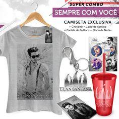Super Combo Feminino Luan Santana Sempre Com Você #BandupStore #LuanSantanaShop #SempreComVoce #LuanSantana