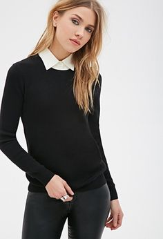 Layered-Collar Sweater | Forever 21 - 2000058915