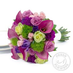the dianthus green balls are so fun and look like patches of grass! nice bouquet for Easter.