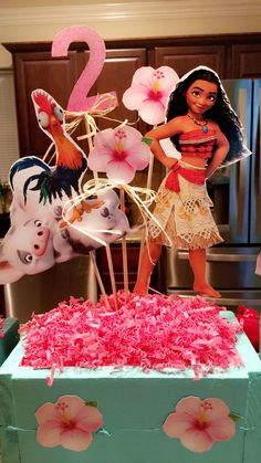 Moana birthday centerpiece #moana #centerpiece #moanabirthday