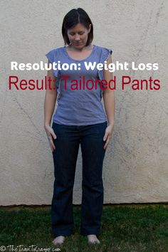 Taking in pants during weight loss.  I so need to do this...I'm tired of buying new jeans as I lose!