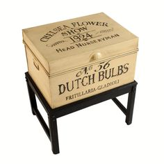 Flower Show Aged Taupe/Espresso Hand Painted Metal Chest Stand Metal Chest, Metal Box, Rustic Flowers, Chalk Paint Furniture, Flower Boxes, Metallic Paint, Decorative Boxes, New Homes, Outdoor Decor