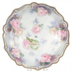 """8 1/2"""" UNMARKED R.S.PRUSSIA MOLD #155 PLATE : Lot 36"""