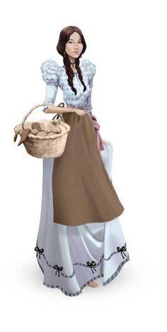 1575-1800: Trajes de la colonia. Vestido de San José para la época de la Colonia. #moda #CostaRica