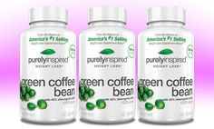 3-Pack (180 Caplets) of Purely Inspired Green Coffee Bean Dietary Supplement