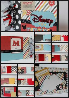 Fully decorated! Premade album with 26 pages..all with different layouts and designs. All you need to do is add the photos and journaling! ! #4heartspapercraftco #disney #disneyscrapbook #premadealbum