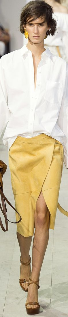 MICHAEL KORS COLLECTION SPRING 2016 RTW women fashion outfit clothing style apparel @roressclothes closet ideas
