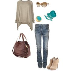 The purse, jeans, and sunglasses are really cute!!!