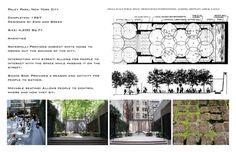 Resultado de imagem para The Paley Pocket Park in New York City Landscape Architecture Design, Architecture Portfolio, Park In New York, New York City, Eco City, Urban Intervention, Pocket Park, Courtyard Design, Steps Design