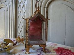Gorgeous Antique Vintage French Glass & Gilt by SweetVintageDream, $78.00