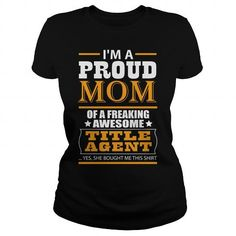 TITLE AGENT T Shirts, Hoodies. Get it here ==► https://www.sunfrog.com/LifeStyle/TITLE-AGENT-115399944-Black-Ladies.html?41382 $23