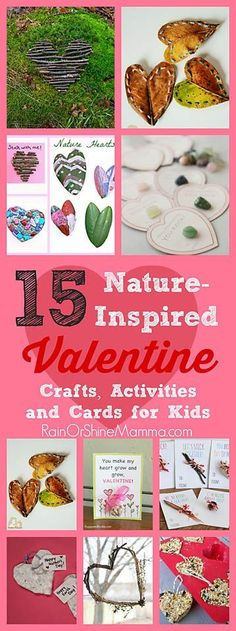 valentines day eyfs Nature Crafts 15 Nature-Inspired Valentine Crafts, Activities and Cards for Kids. Celebrate Valentines Day with these fun and kid-friendly outdoor activities, nature crafts, and natural, DIY valentines. Rain or Shine Mamma. Kinder Valentines, Valentine Crafts For Kids, Valentines Day Activities, Valentines Diy, Nature Activities, Craft Activities, Preschool Crafts, Outdoor Activities, Diy Crafts