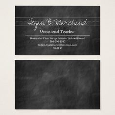 Printable template business card blackboard for teachers 35x2 printable template business card blackboard for teachers 35x2 professional cards teachers card printable cards other designs pinterest reheart Choice Image