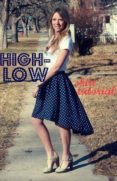DIY skirt : DIY High Low Skirt