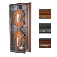 Dallas Cowboys NFL Case-Up 2-Football Display Case (Vertical)