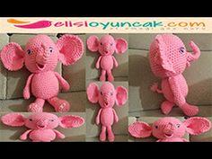 Amigurumi Fil Oyuncak Yapılışı Videolu – makalepark.com Crochet Videos, Dinosaur Stuffed Animal, Origami, Youtube, Crafts, Diy, Animals, Tulum, Sayings