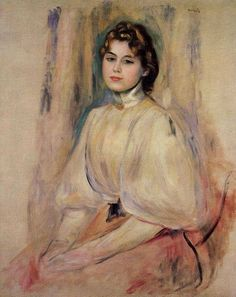 Pierre Auguste Renoir - Seated Young Woman - 1890